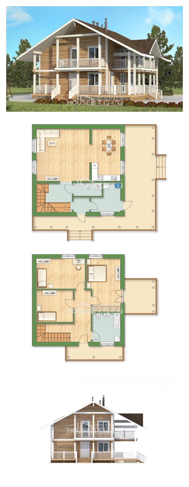 Проект дома 130-001-П   House Expert